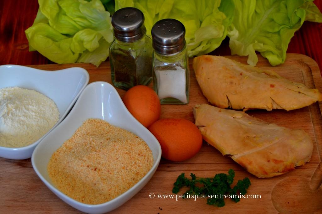 ingrédients pour salade aux croutons de pintade