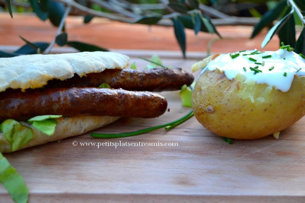 merguez et pomme de terre à la crème