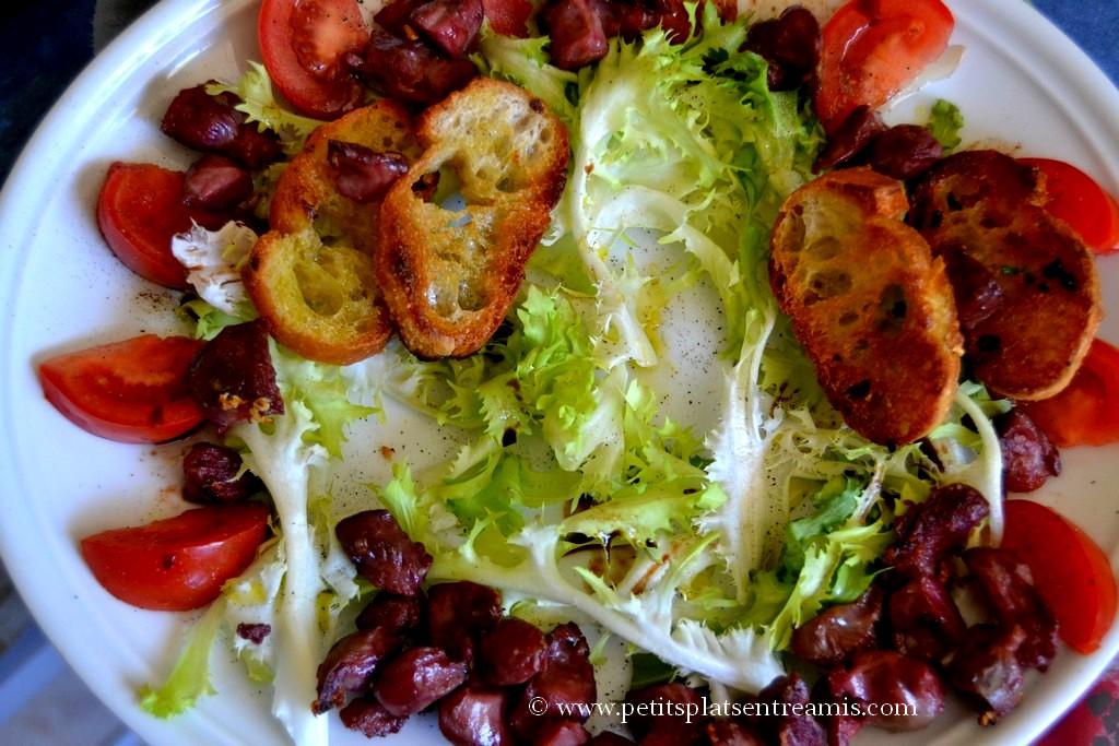 montage assiette de salade
