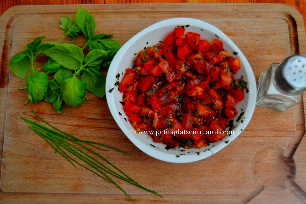 préparation salade de croutons de pintade