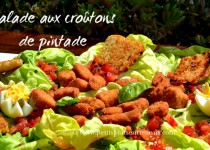 Salade aux croûtons de pintade