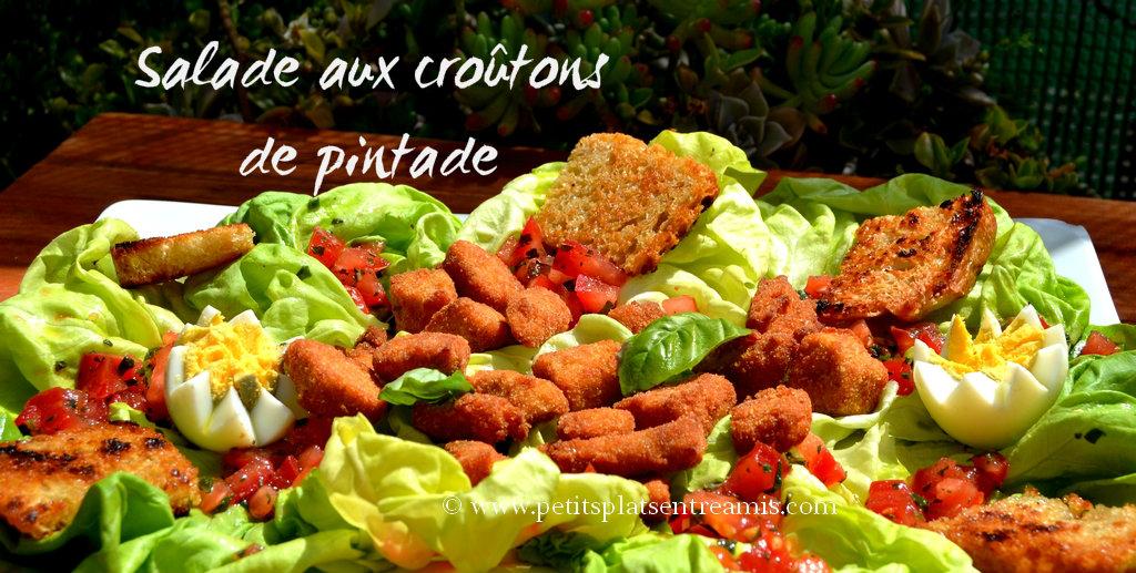 salade aux croutons de pintade