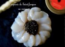 Carpaccio de Saint-Jacques au caviar