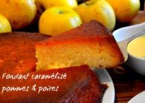 Fondant caramélisé pommes & poires