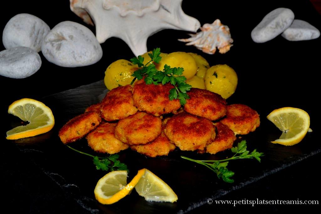 assiette de croquettes de poisson
