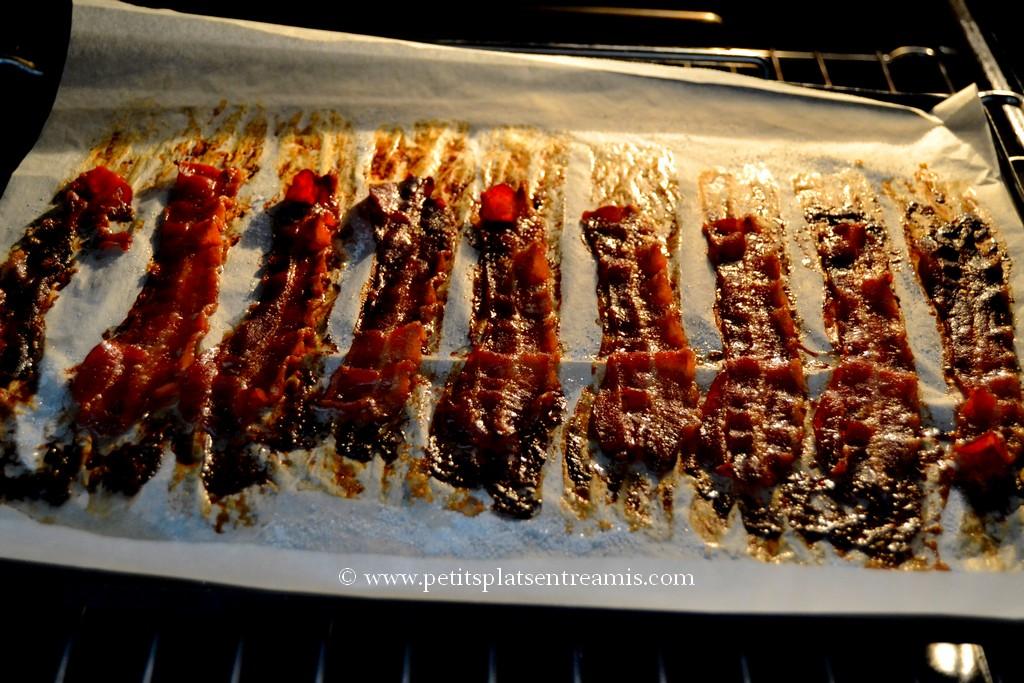 bacon caramélisé au four