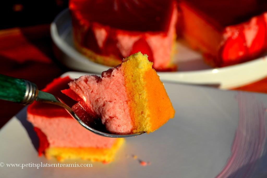 bouchée de bavarois aux fraises