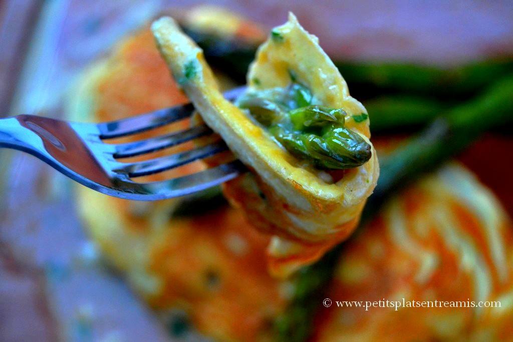 bouchée omelette aux asperges