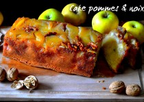 Cake aux pommes & noix