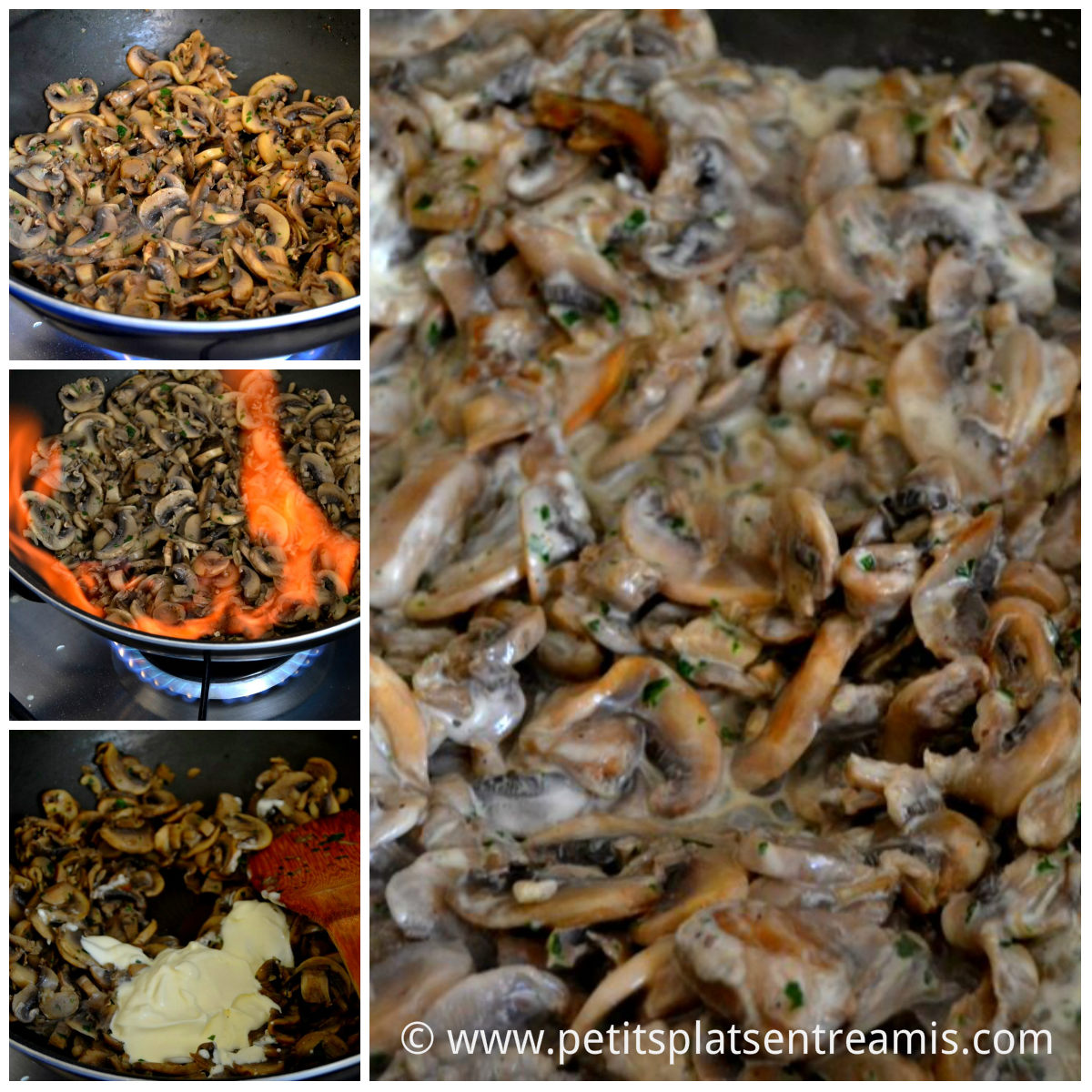 cuisson champignons pour aumonière