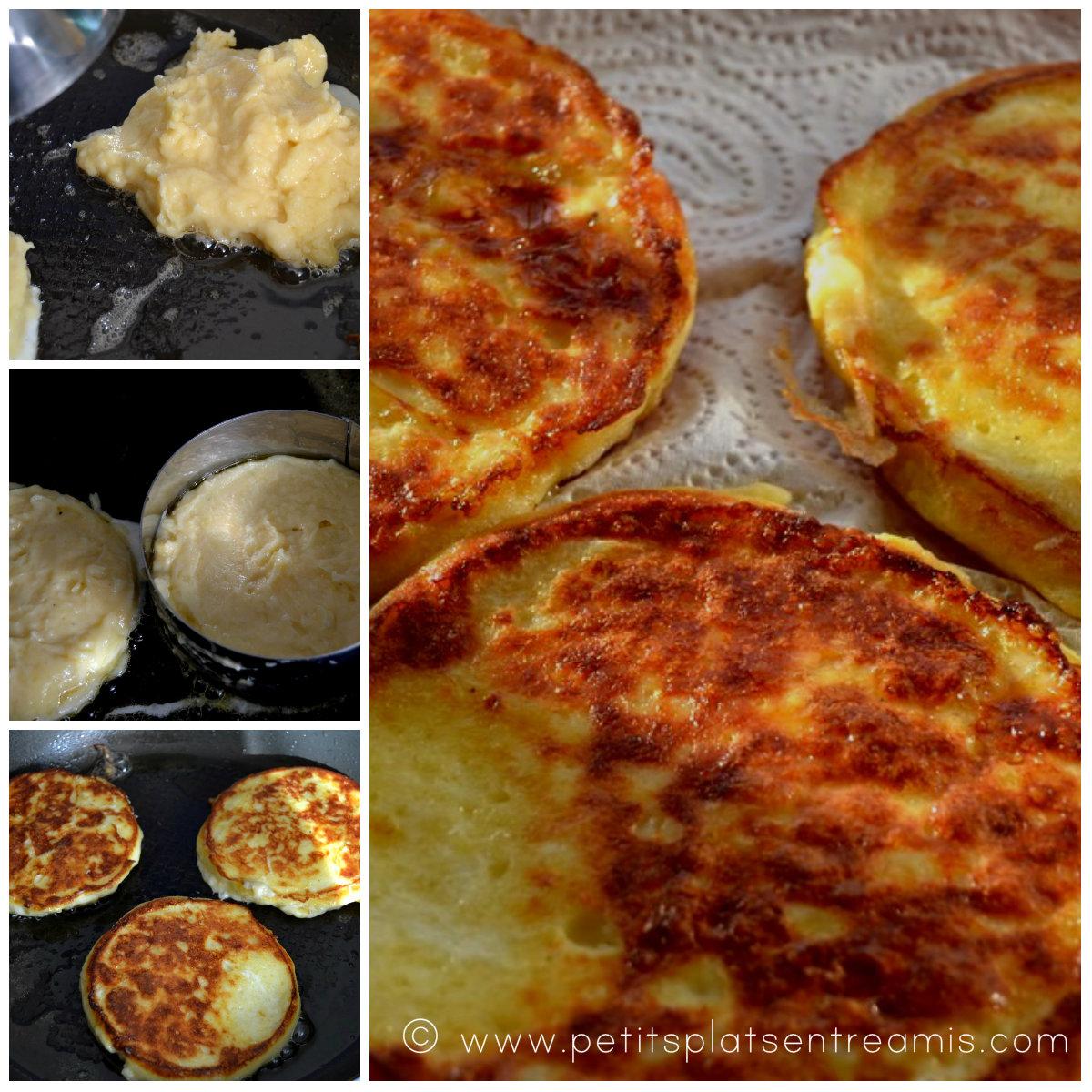 cuisson pancakes à la pomme de terre