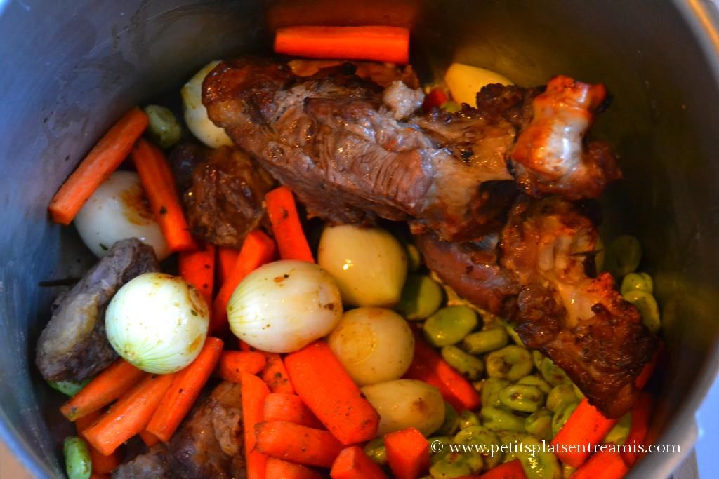 cuisson viande et légumes couscous