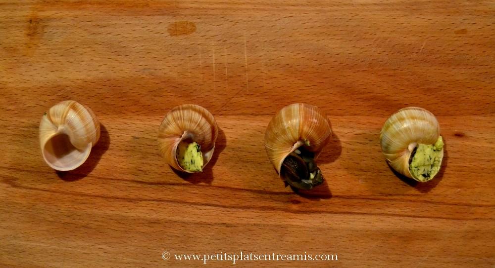 garnissage des escargots