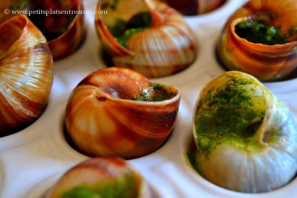 Champignons farcis au beurre d'escargots + photos