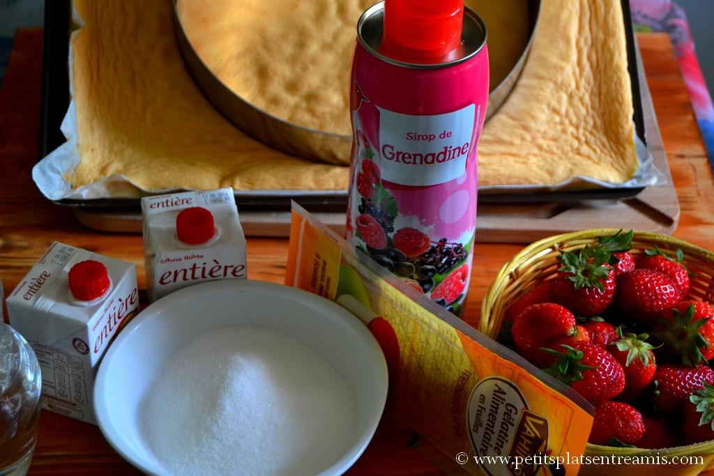 ingrédients pour bavarois aux fraises
