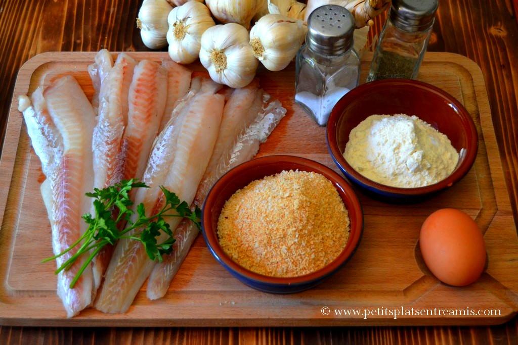 ingrédients pour croquettes de poissons panées