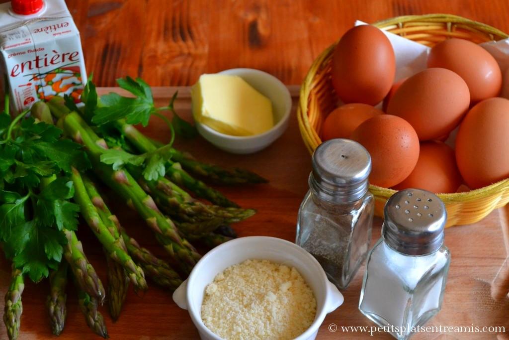 ingrédients pour omelette aux asperges