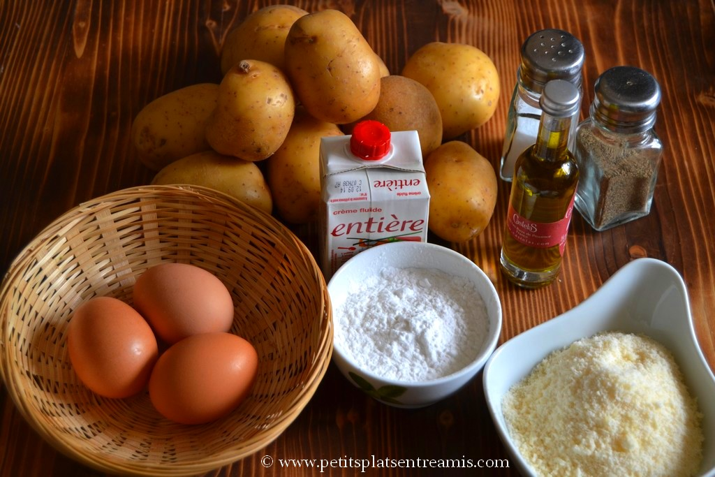 ingrédients pour pancakes de pommes de terre