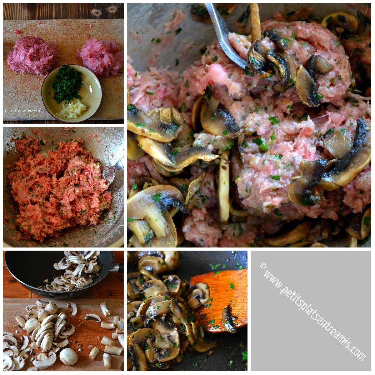 préparation farce pour cuisse de dinde farcie