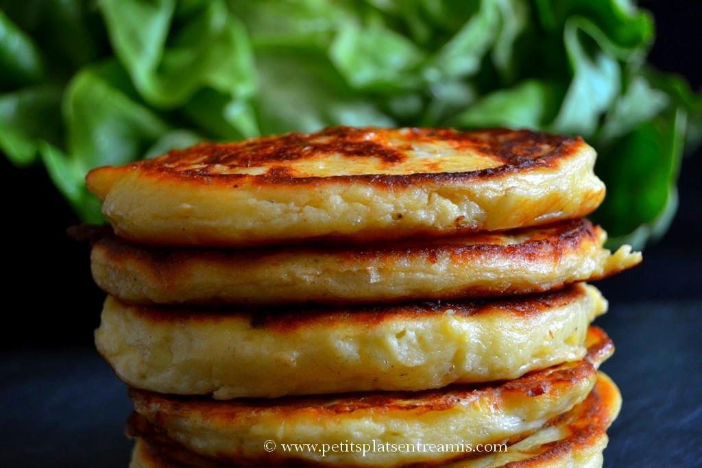 présentation pancakes aux pommes de terre