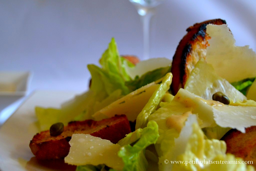 présentation salade cesar
