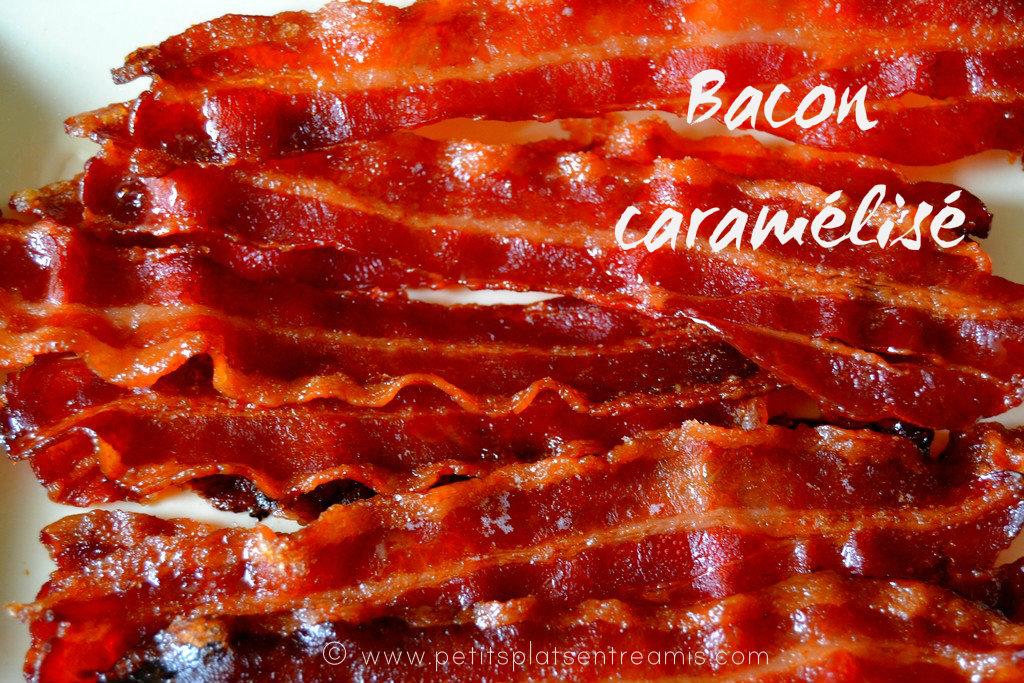 tranches de bacon caramélisé
