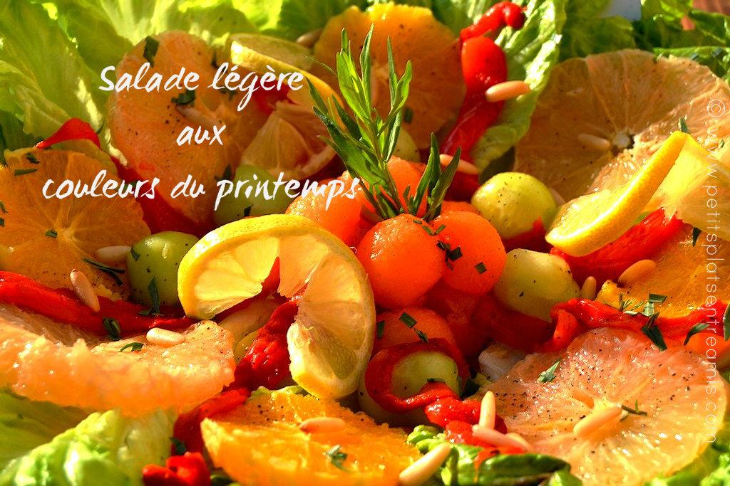 Salade l g re aux couleurs du printemps petits plats entre amis - Couleur du printemps ...