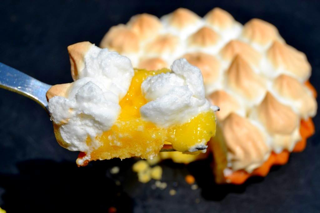 bouchée de tarte au citron meringuée