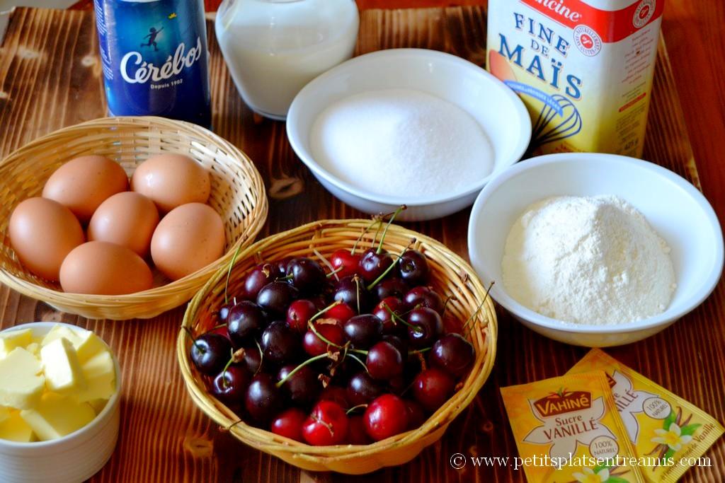 ingrédients pour clafoutis aux cerises