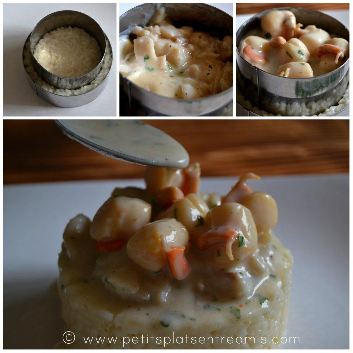 montage de l'assiette de risotto