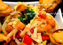 Salade de pâtes aux noix de Saint-Jacques fumées
