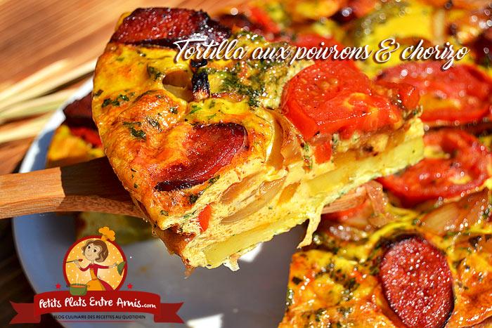 Tortilla aux poivrons chorizo petits plats entre amis - Chorizo a griller recette ...