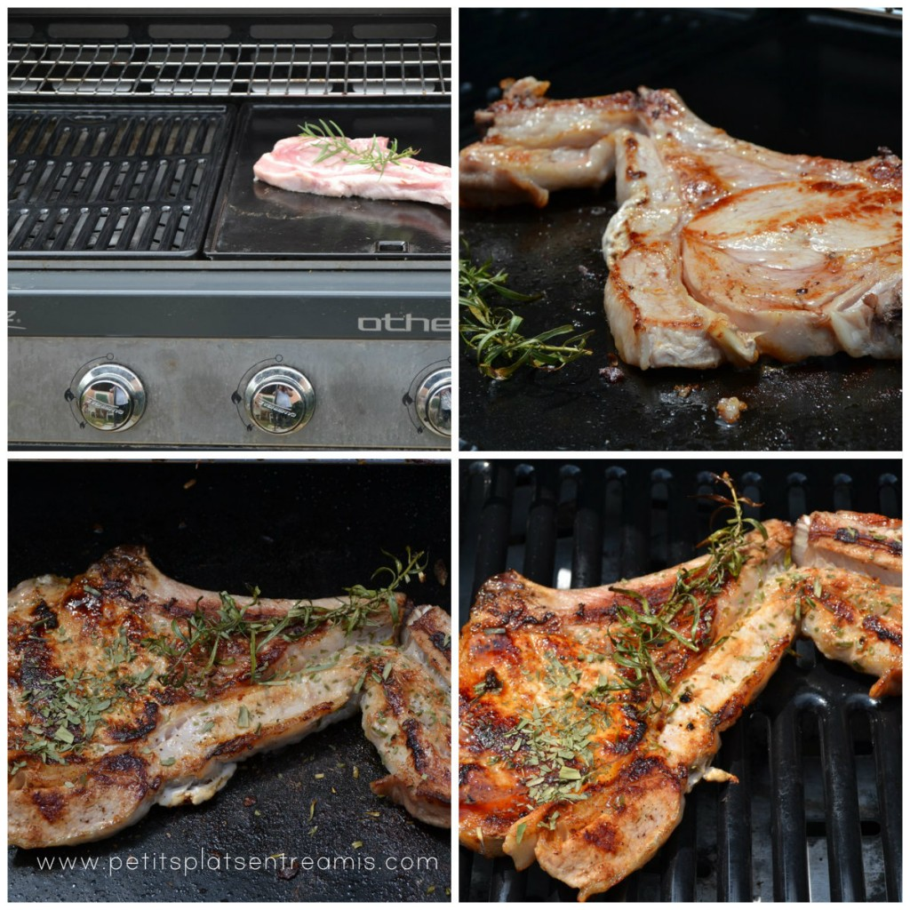 cuisson côte de veau grillée