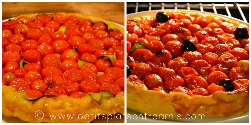 fin de cuisson tarte tatin aux tomates