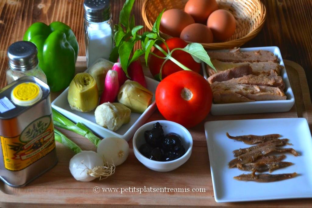ingrédients pour pan bagnat