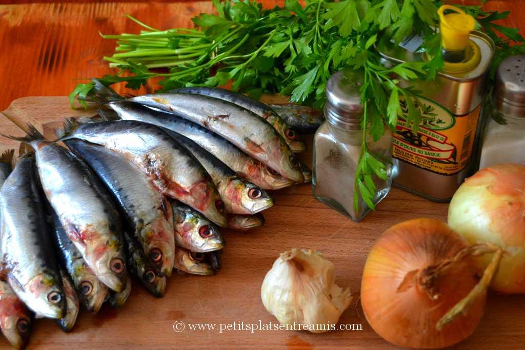 ingrédients pour sardines farcies grillées