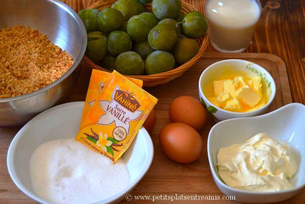 ingrédients pour tarte aux reine-claude