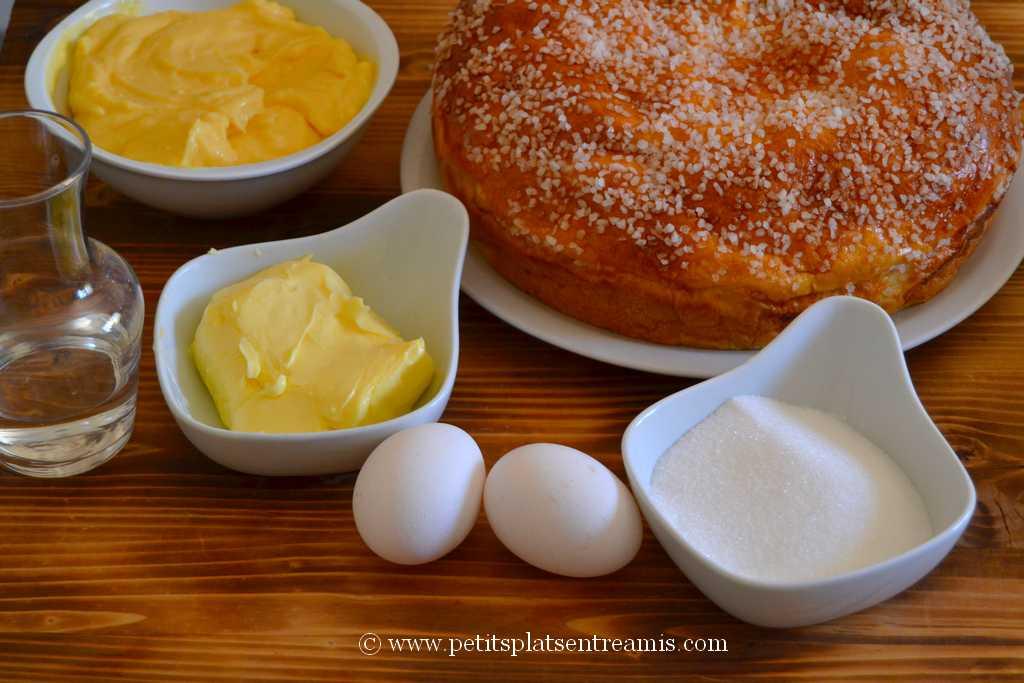ingrédients pour tarte tropézienne