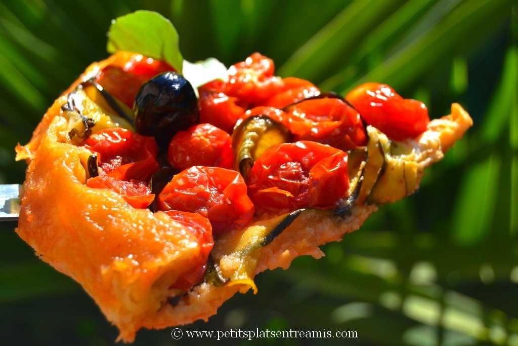 part de Tarte Tatin aux tomates cerises