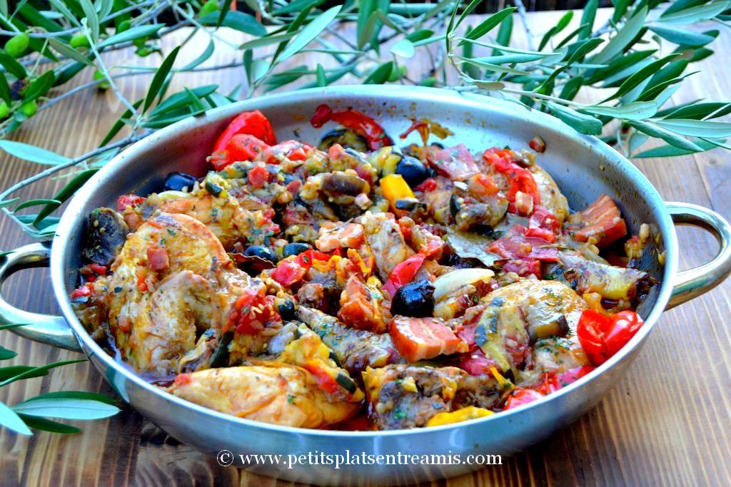 plat de poulet à la provençale