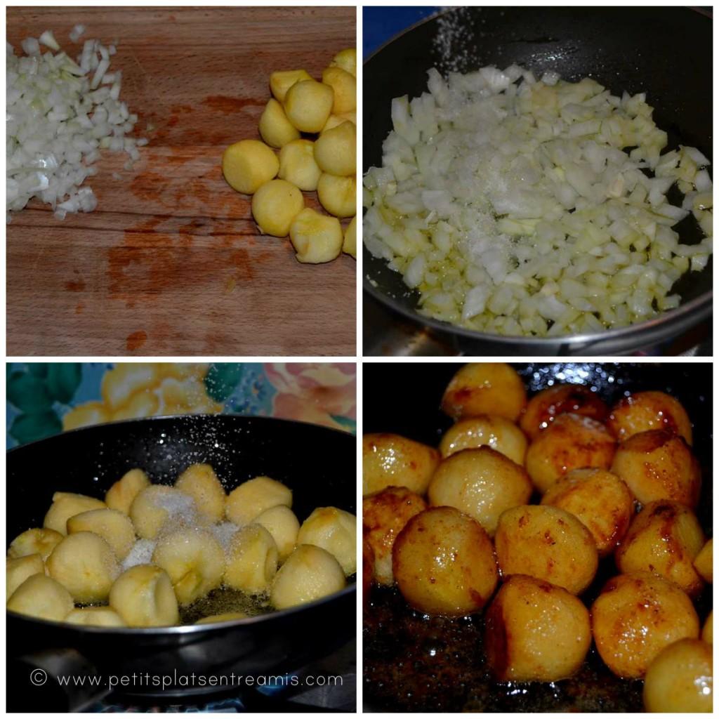 pommes et oignons caramélisés