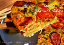 Tortilla aux poivrons & chorizo