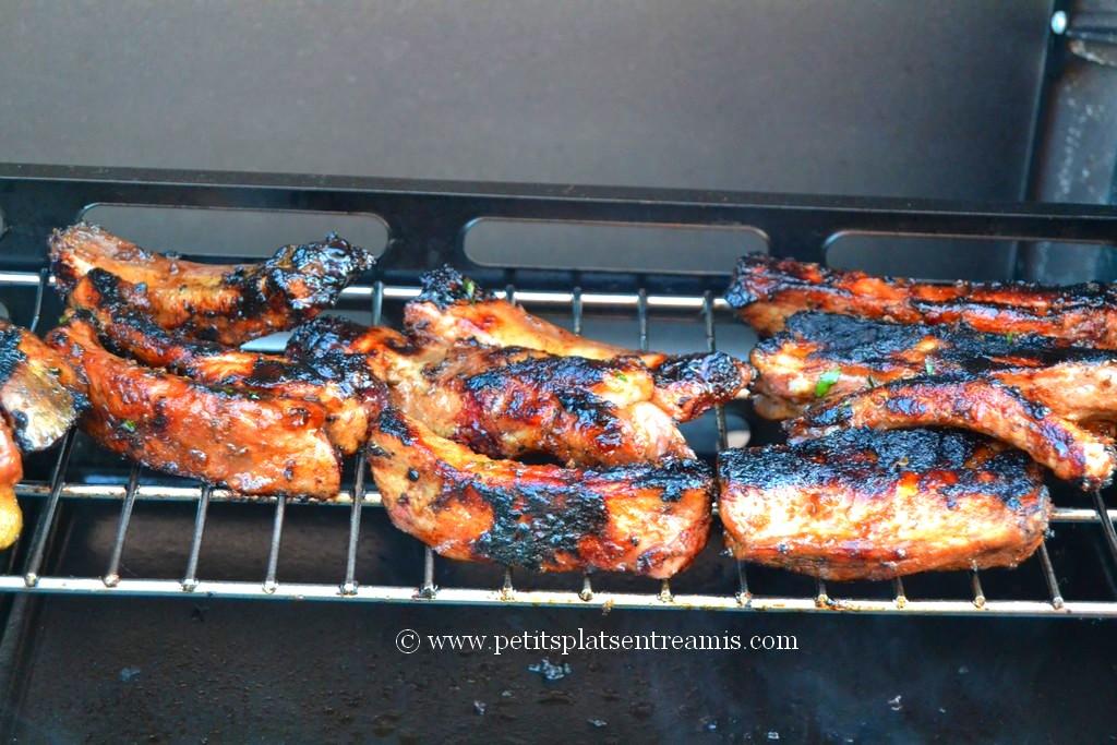 travers de porc laqué cuit