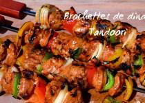 Brochettes de dinde tandoori