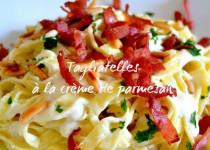 Tagliatelles à la crème de parmesan