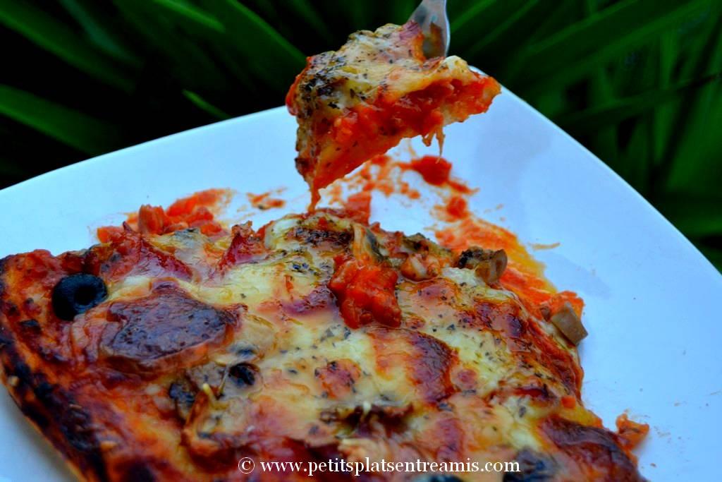 bouchée de pizza jambon et 3 fromages