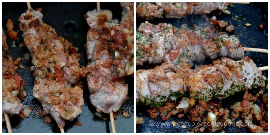 cuisson brochettes d'agneau