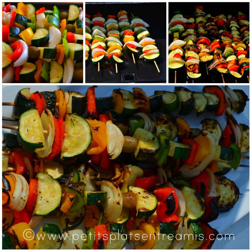 cuisson brochettes de légumes