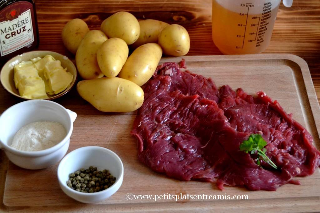ingrédients bavette d'aloyau au poivre vert
