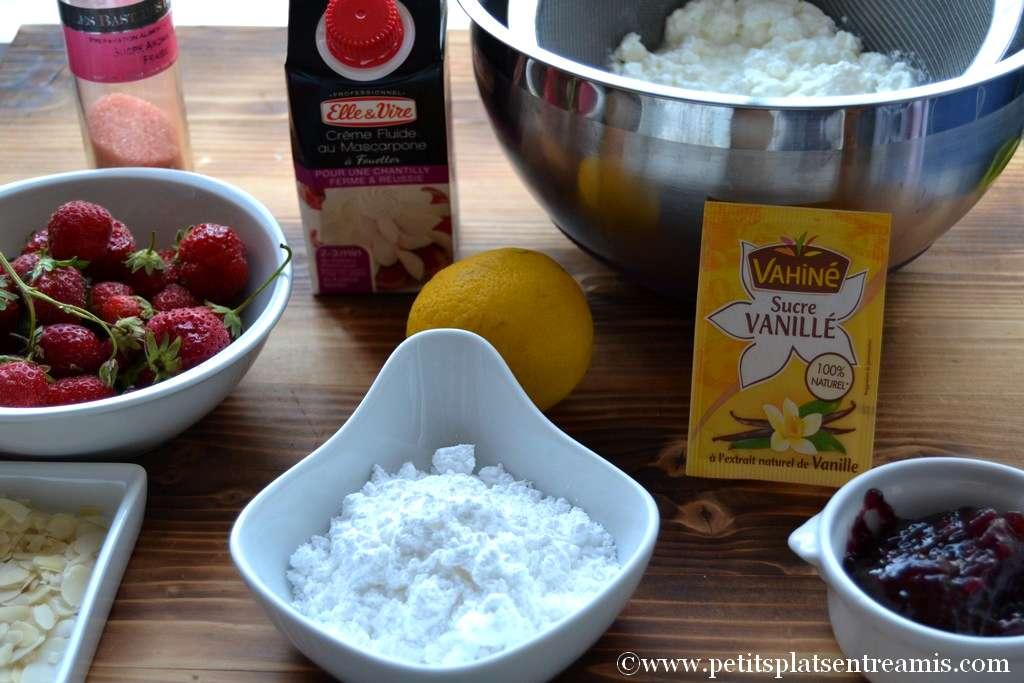 ingrédients pour fontainebleau aux fraises